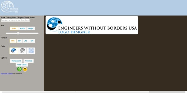 EWB-USA Logo Designer screenshot