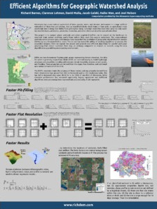 Thumbnail of poster entitled 'Efficient Algorithms for Geographic Watershed Analysis'